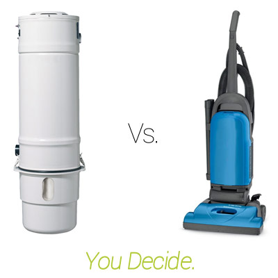 Central Vacuum Versus Upright Vacuum - You Decide